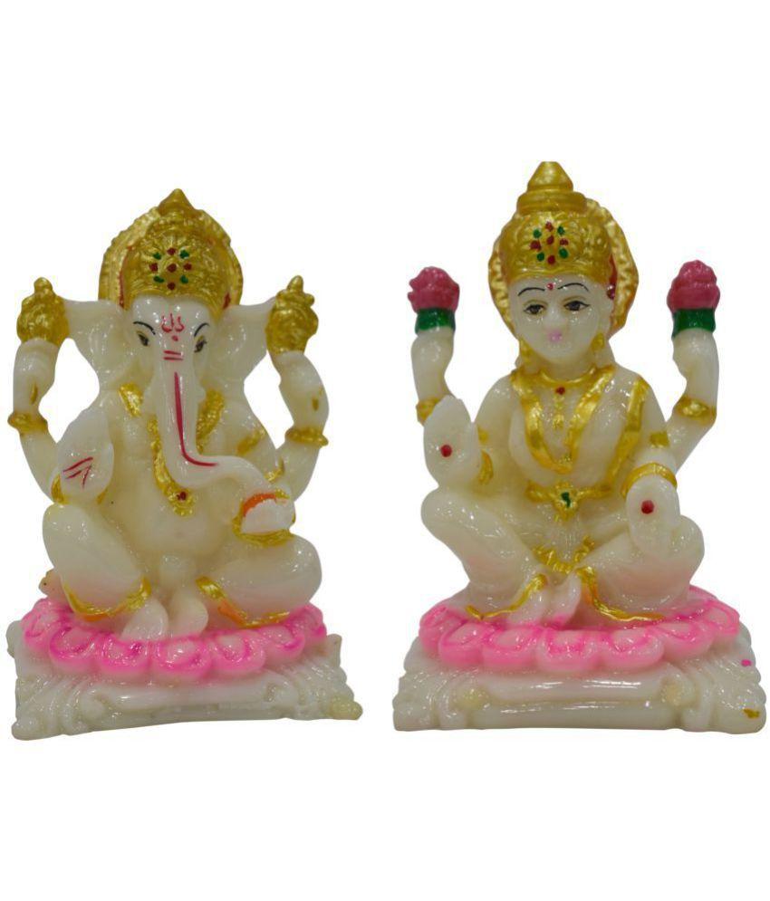 Gallery99 Laxmi Ganesh Marble Idol