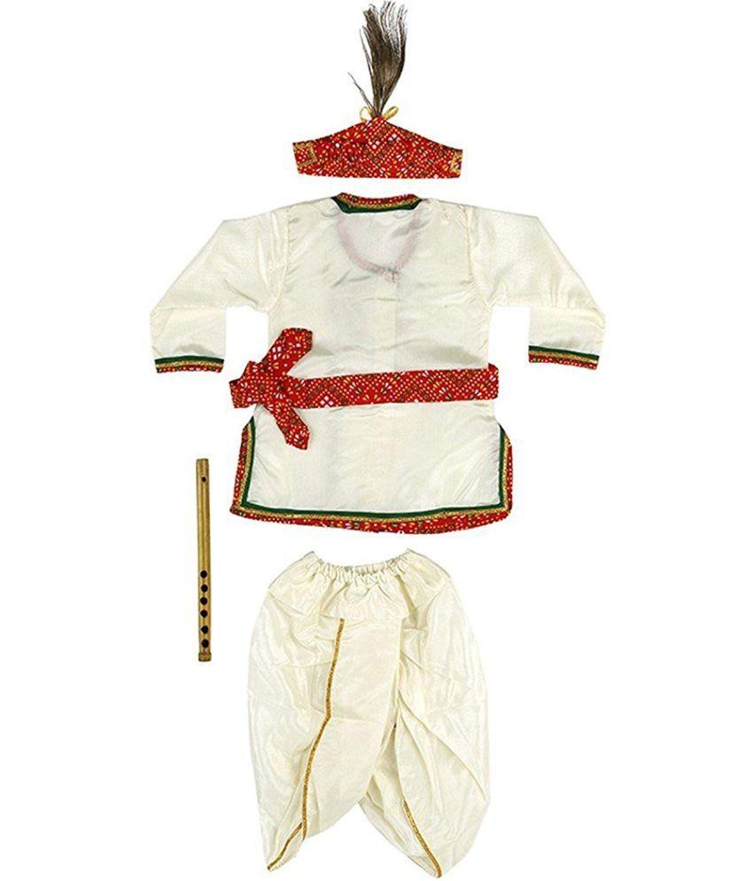 131209752 ... Little Palz Kanha Dhoti Kurta Angrakha Krishna Kids Costume Wear Dress  Set for Children (Pack ...