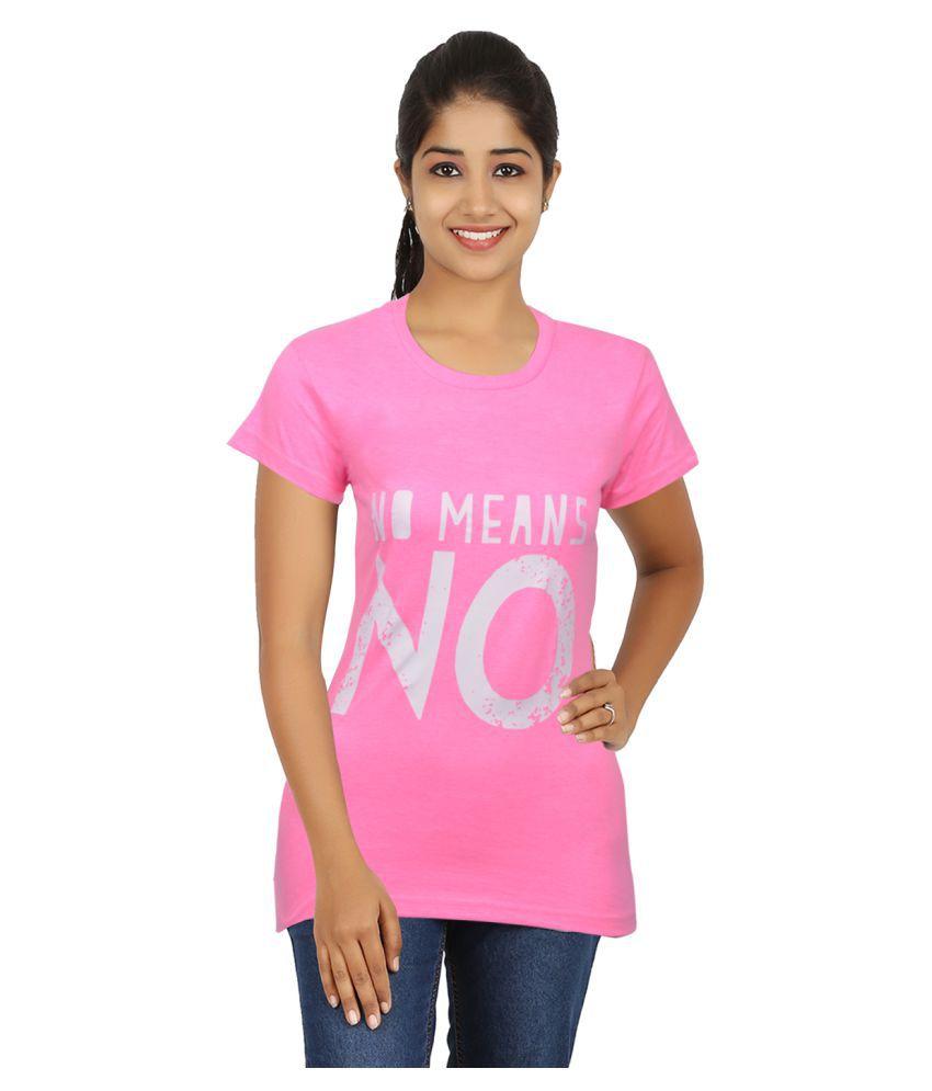 UNTOLD Pink Round T-Shirt