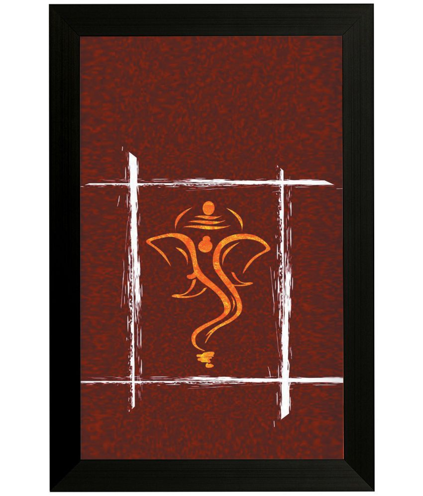 Style as Fashion Ganesh Modern Art MDF Painting With Frame