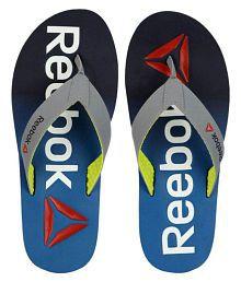 Reebok Embossed Gray Thong Flip Flop