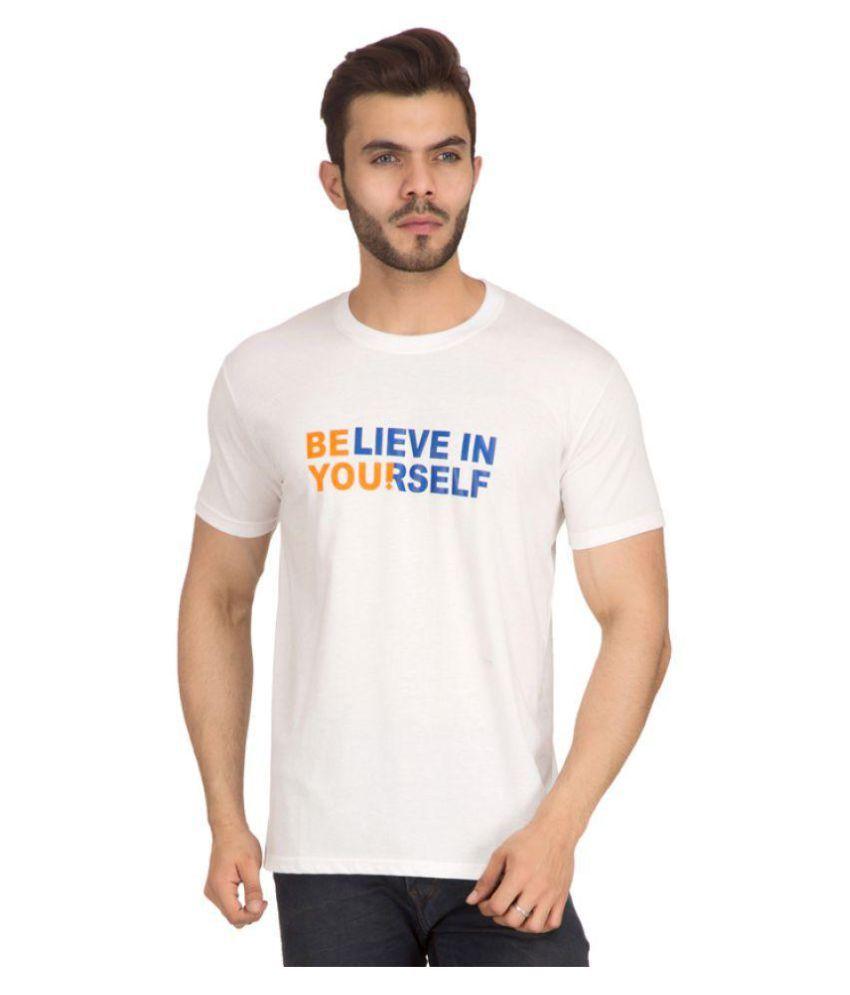 Exalon White Round T-Shirt Pack of 1