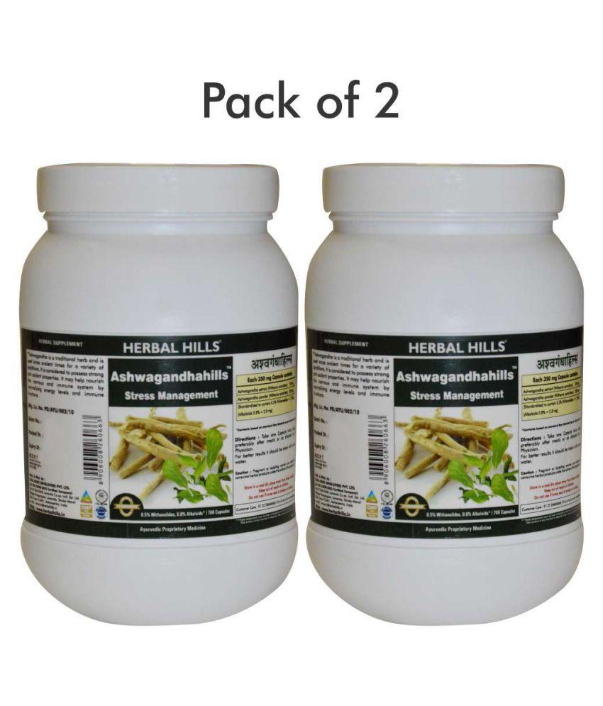 Herbal Hills Ashwagandhahills Value Pack 700 Capsule Pack of 2 Capsule 1 mg