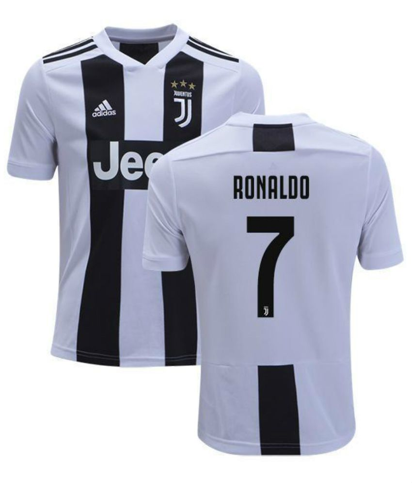 watch cb95f 7ebb9 Juventus Ronaldo Home Jersey Black & White