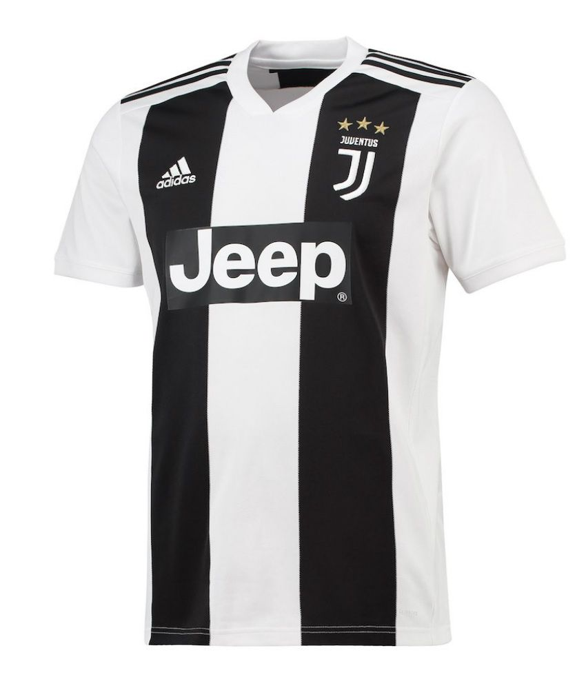4a50396bc Juventus Ronaldo Home Jersey Black   White  Buy Online at Best Price on  Snapdeal
