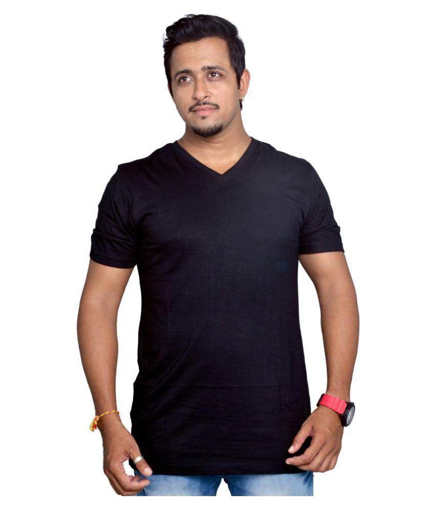 Royal Fashion Black V-Neck T-Shirt Pack of 1