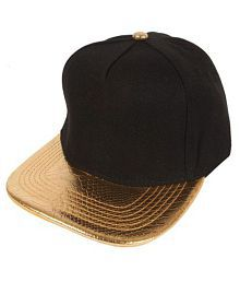 f90ee1acb9e51 Quick View. Women s Black And Gold Adjustable Snapback Cotton Cap
