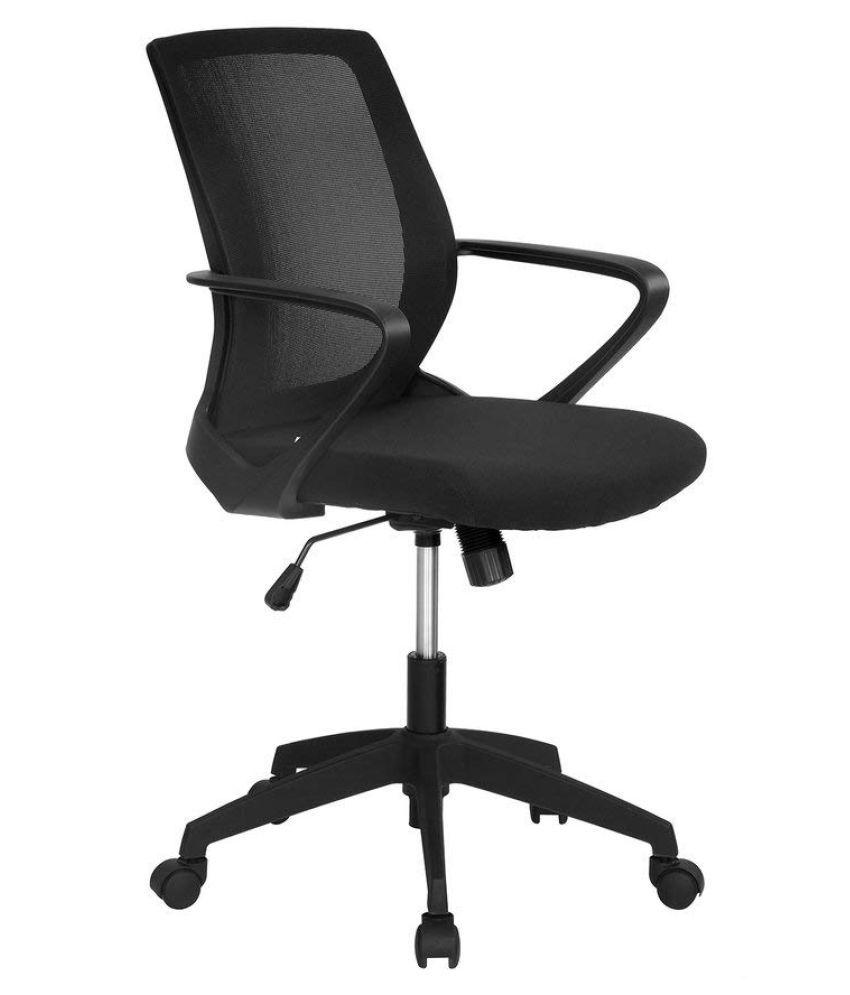 960a9543b Nilkamal Scoop Mid Back Office Chair (Black) - Buy Nilkamal Scoop ...