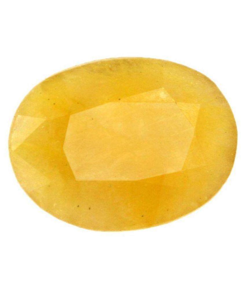 PUKHRAJ 7.25 -Ratti IGI Yellow Yellow Sapphire (Pukhraj) Precious Gemstone
