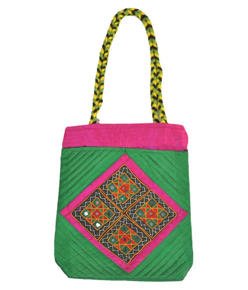 TRADITIONAL HAND BAG Multi Satin Sling Bag