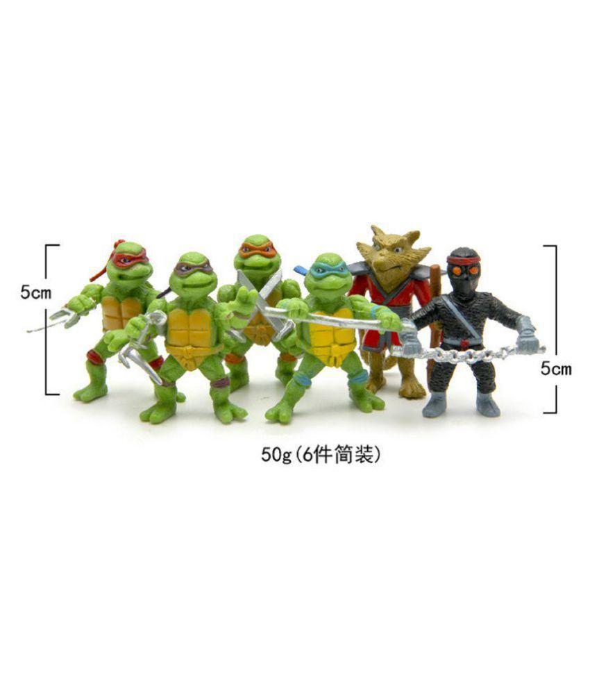 teenage mutant ninja turtle tmnt set of 6 pcs raphael leonardo rh snapdeal com