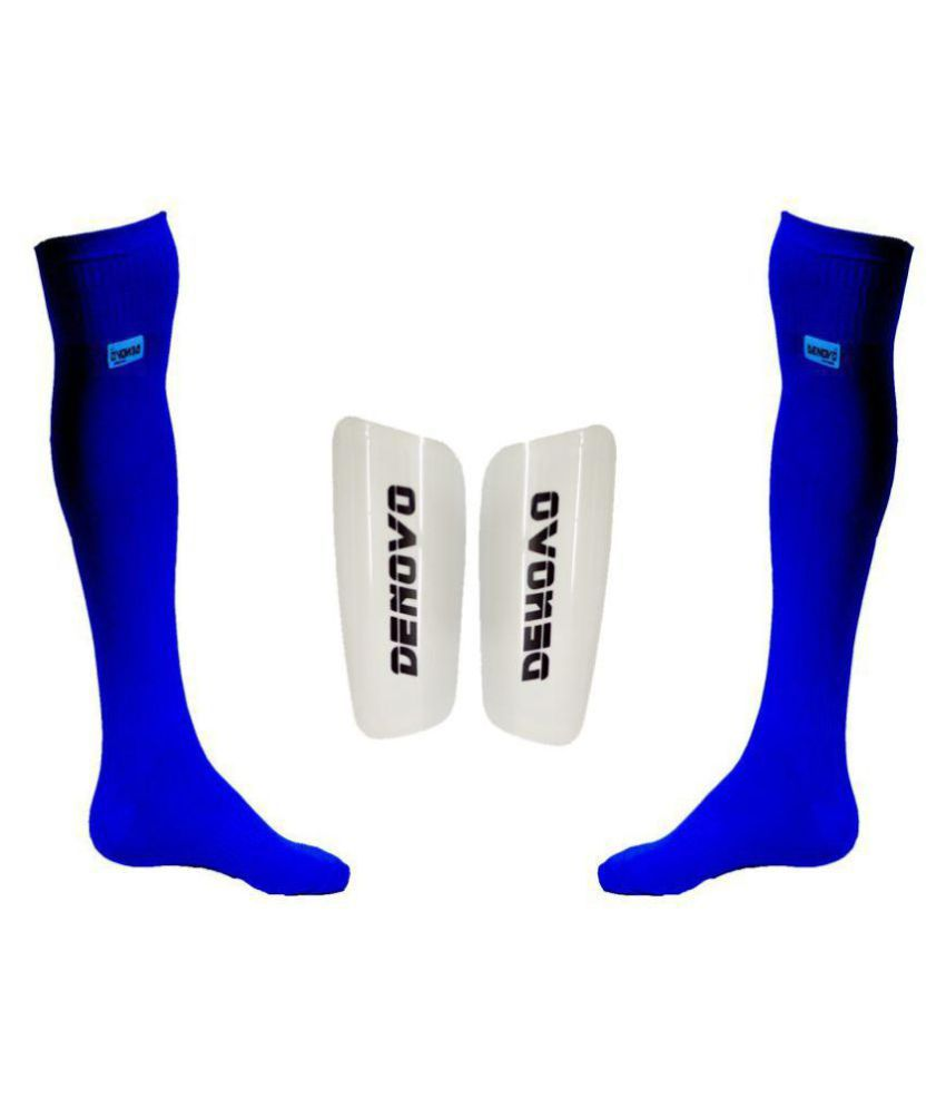 d03ecb5c391 DeNovo Classic Lycra Football   Ball Knee Length Socks and Shin Guard  Buy  Online at Best Price on Snapdeal
