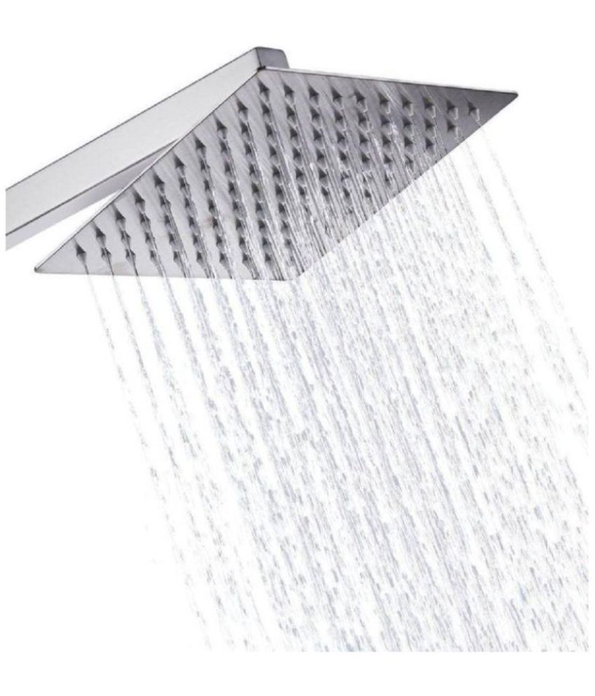 SBL 8X8 Inch Shower with 15 Inch Arm Stainless Steel Overhead Shower