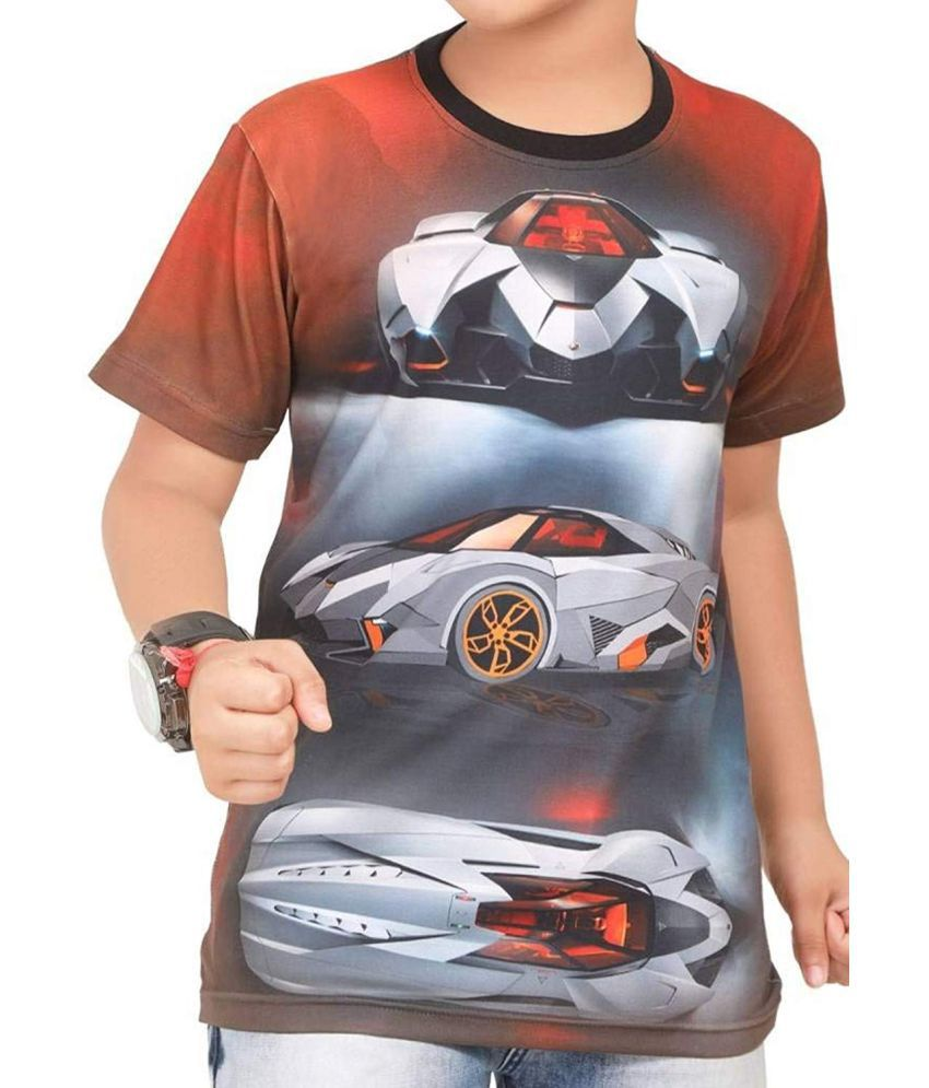 Amigos Animated Future Sports Car Digital Printed Red