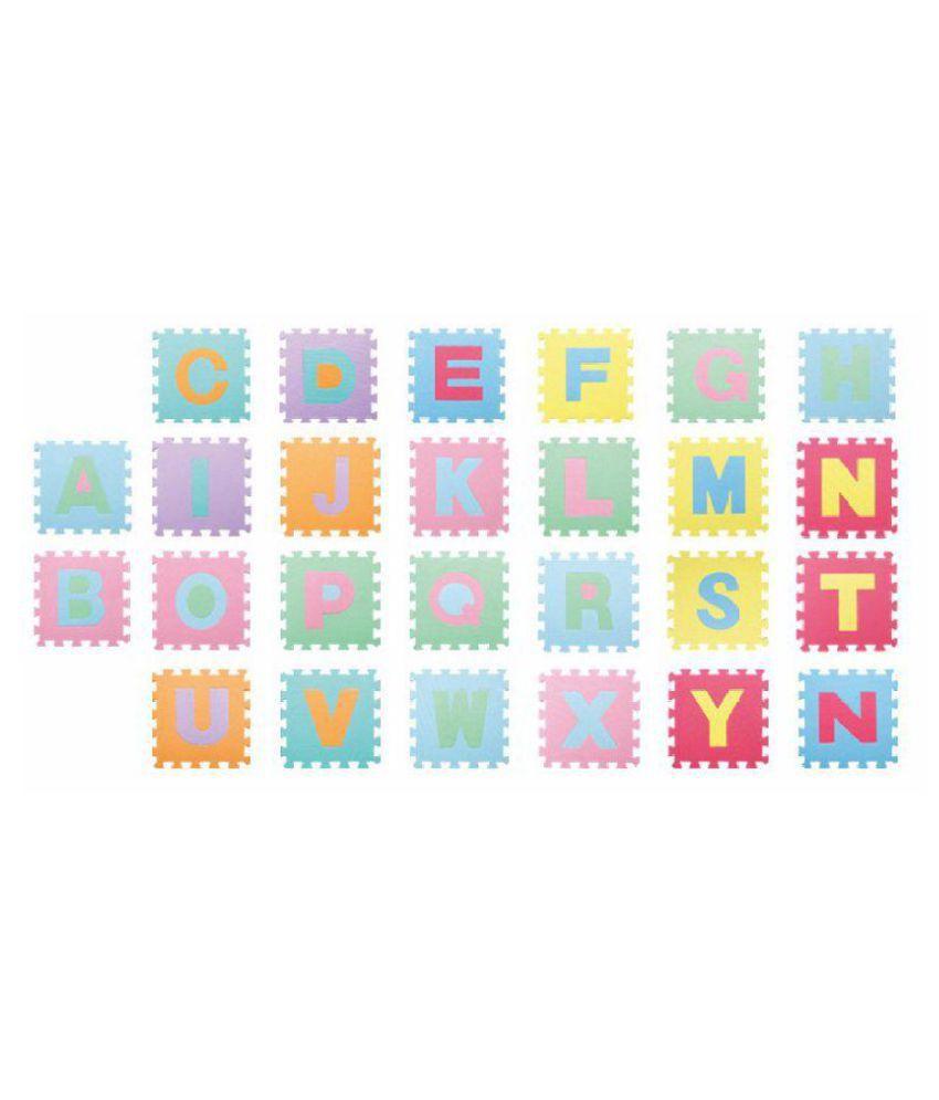 Sanyal 26pcs Alphabet Puzzle Mat Foam Floor Puzzle Mat Letters Baby