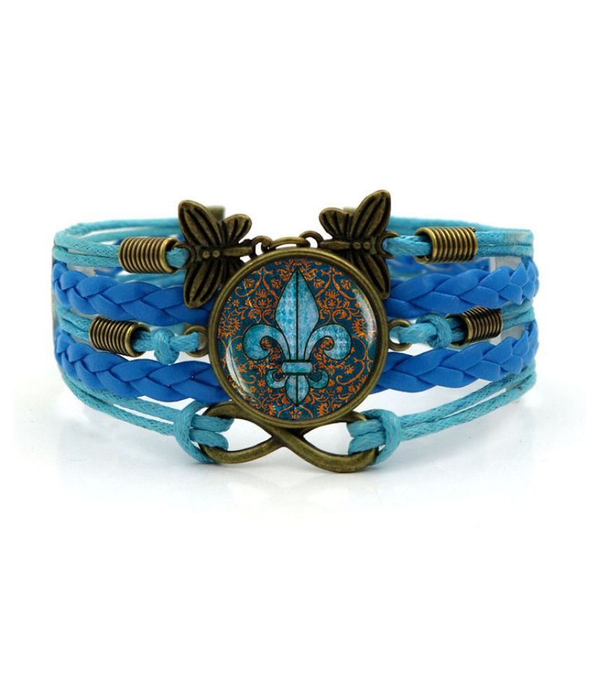 Kamalife Fashion White Alloy Letter Bling Bracelet Accessories Gift
