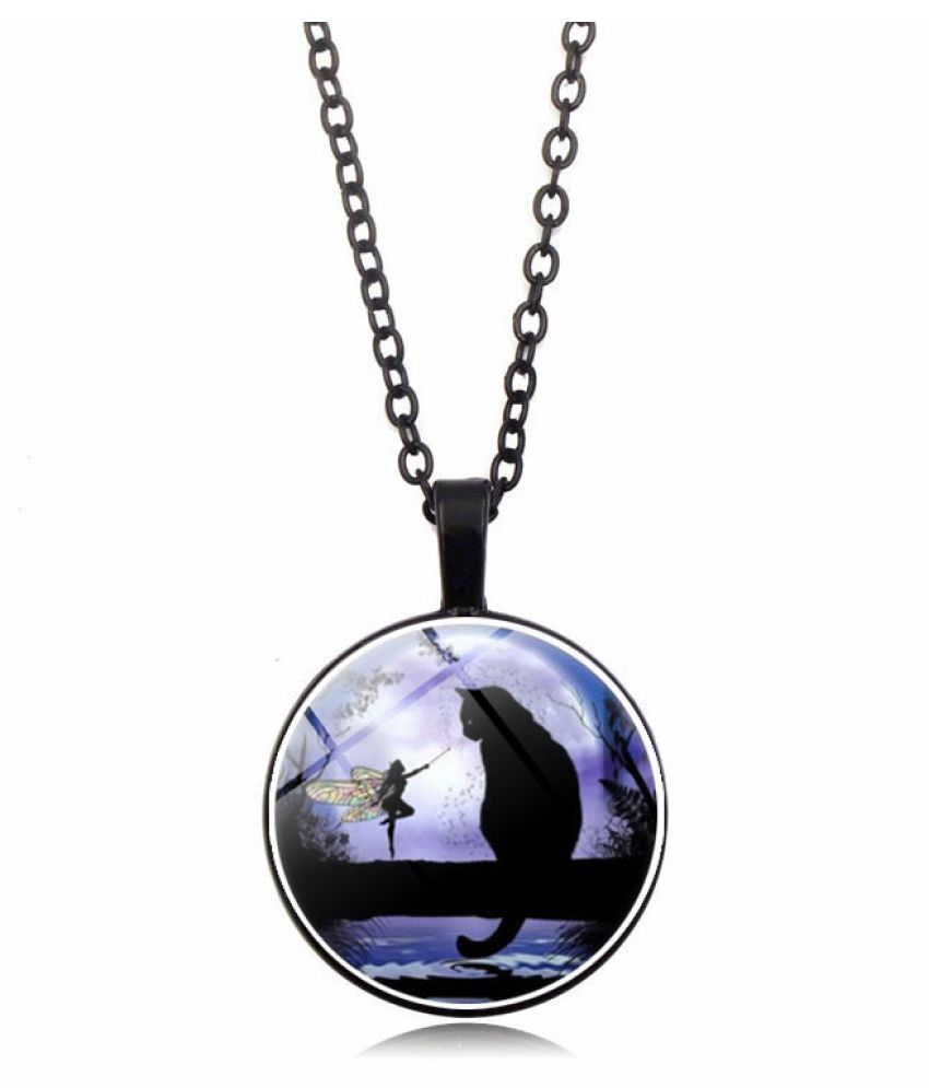 Kamalife Fashion Silver Pendant Gem Bling Ice Out Necklace Accessories Gift