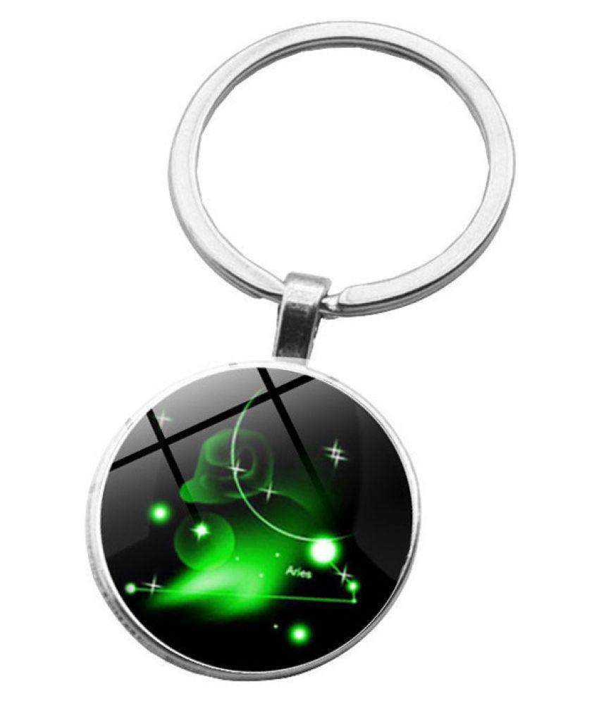 Kamalife Fashion Green Zinc Alloy Bling Keychain Accessories Gift