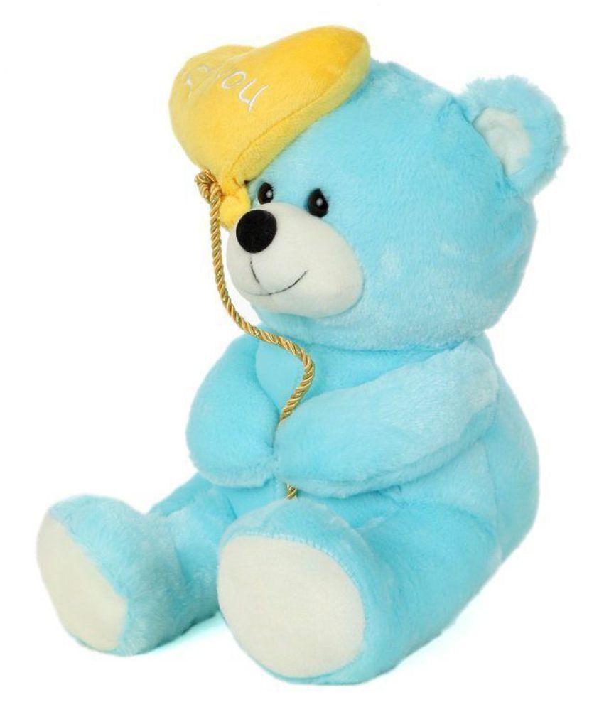 4db4e2a0d689 ... AVS Soft Stuff Cute Teddy Bear With I Love You Heart Ballon Blue Soft  Toy 27cm ...