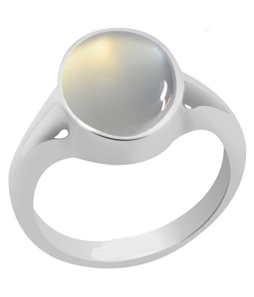 Jaipur Gemstone 18k Silver Moonstone Ring