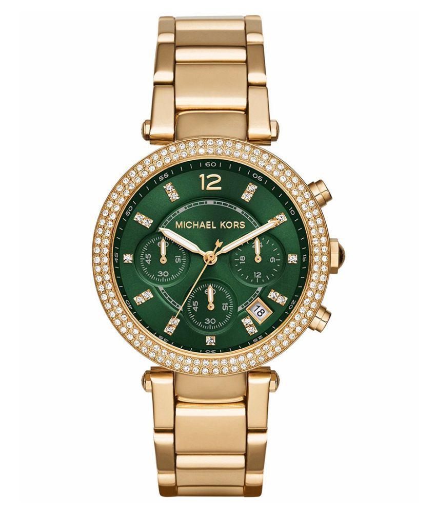 d4469c0a0ee6 Noctem Parker Chronograph Green Dial Ladies Watch MK6263 Price in India  Buy  Noctem Parker Chronograph Green Dial Ladies Watch MK6263 Online at Snapdeal
