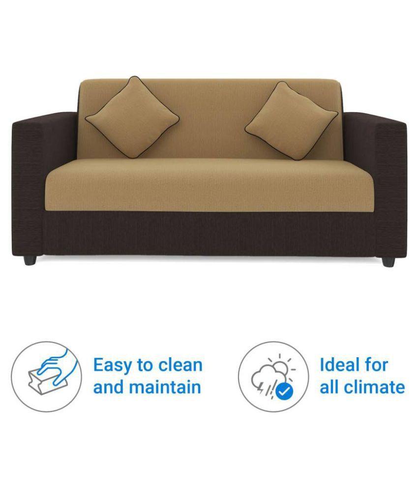 westido citrus fabric 3 1 1 cream brown sofa set with 4 filled rh snapdeal com