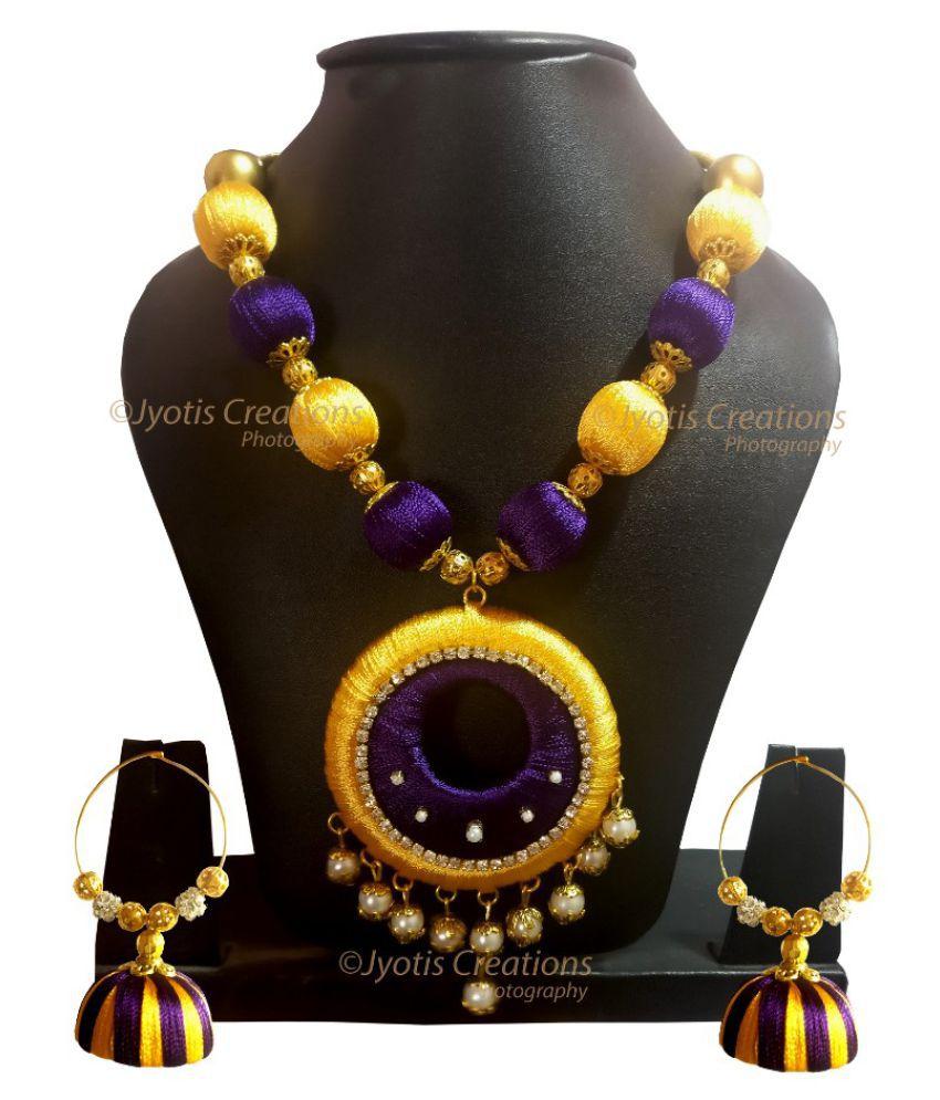 Handmade Silk Thread Necklace