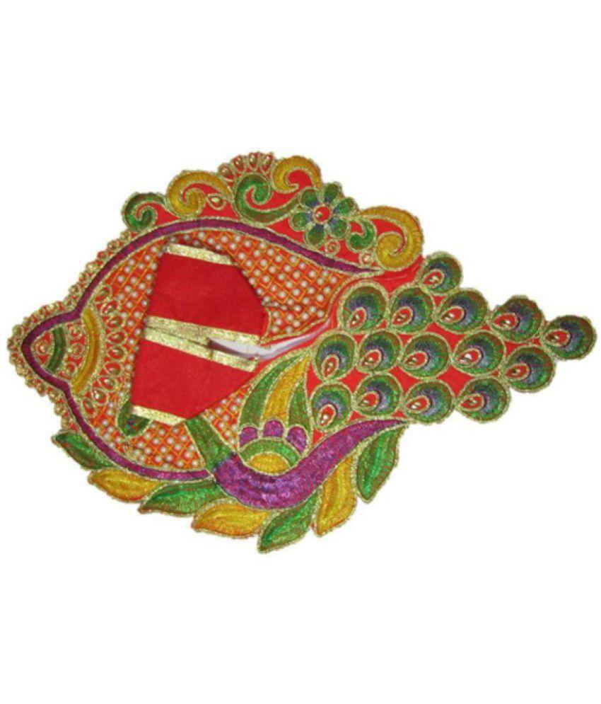 BRIJWASI  Premium Multicolor Handmade Embroidered Cloth | Laddu Gopal Poshak / Bal Gopal / Krishna Gopal /Thakur Ji  SIZE 5