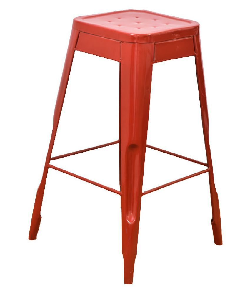 Astounding Casa Decor Red Velvet Stool Vintage Counter Bar Stools Industrial Breakfast Bar Cafe Creativecarmelina Interior Chair Design Creativecarmelinacom