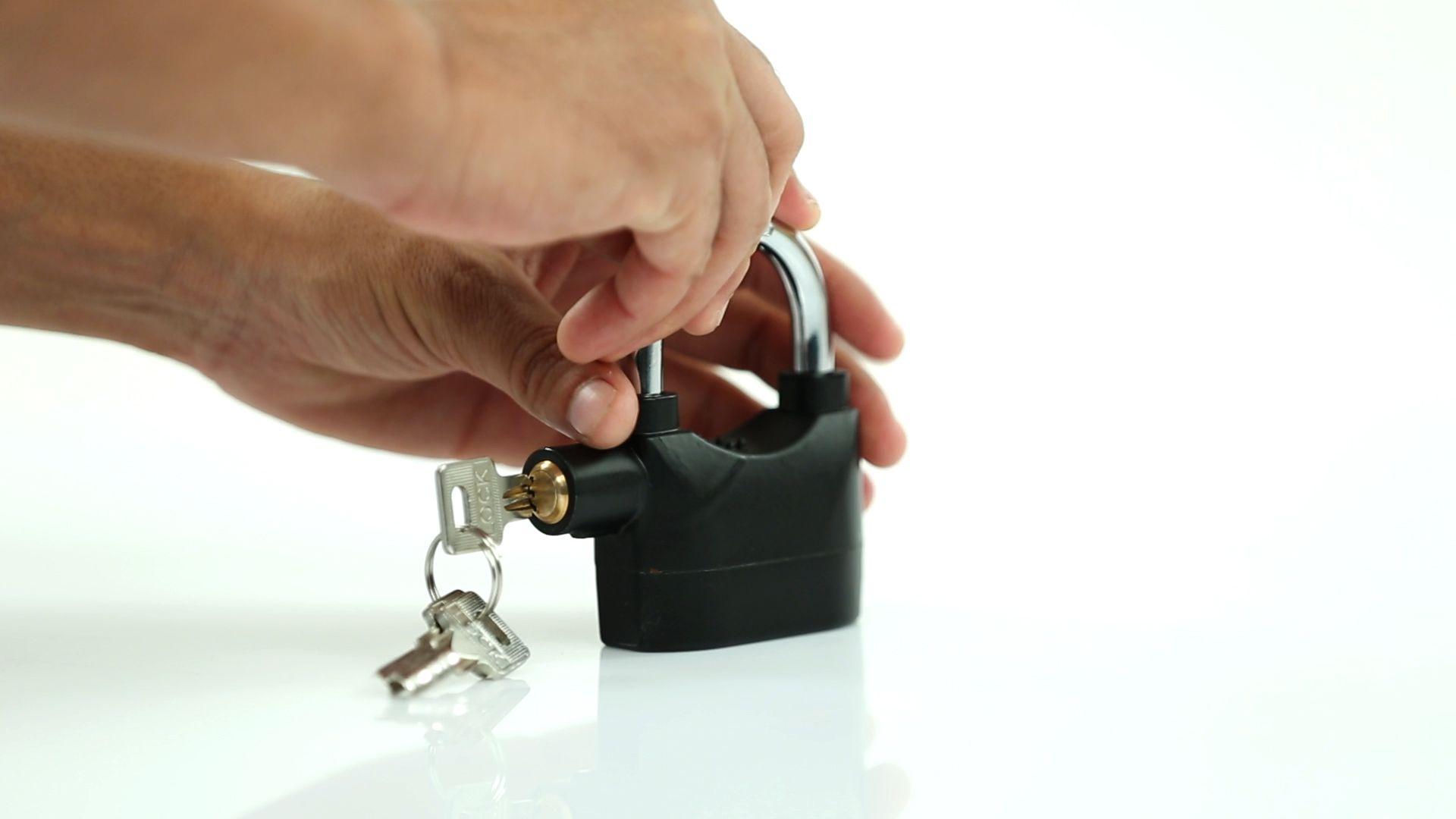 Buy James Bond Anti Theft Motion Sensor Alarm Pad Lock For Bike