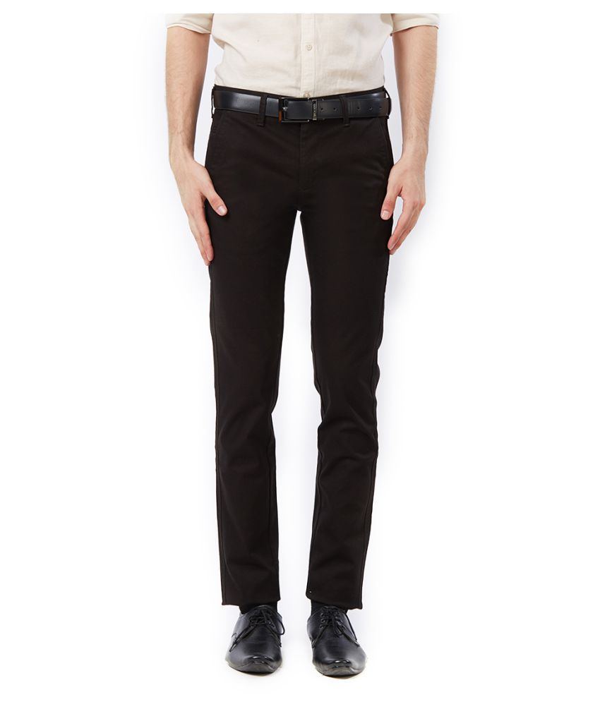 Killer Black Slim -Fit Flat Trousers