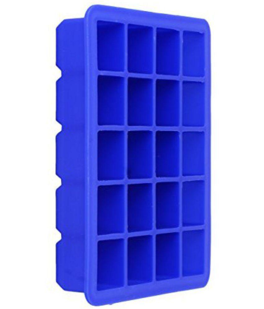 Shuban Silicon 20 Grid Square Ice Tray - Dark Blue 1 Pcs