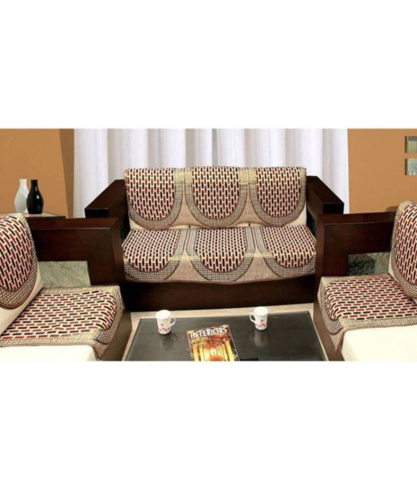Styletex 5 Seater Cotton Set Of 6 Sofa Cover Set 3 1 1 Buy