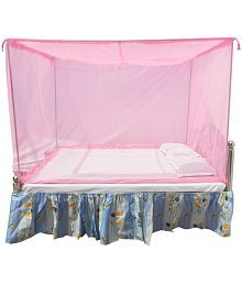 HOMECUTE Double Pink Plain Mosquito Net
