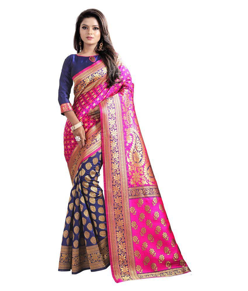 Today Deal Pink Banarasi Silk Saree