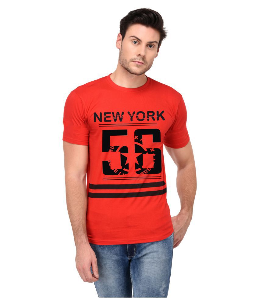 Trends Tower Red Round T-Shirt