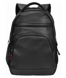 Cosmus Icon Black Durable 35 Litre PU Leather Laptop Backpack