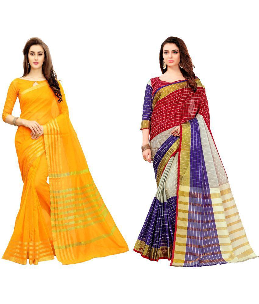 Dressy Multicoloured Kanchipuram Saree Combos