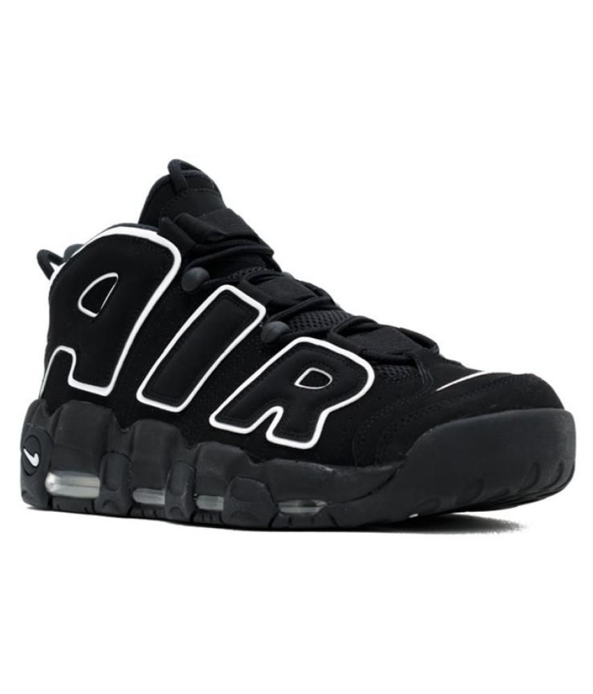 low priced 9cf96 44404 Nike AIR MORE UPTEMPO Black Basketball Shoes ...