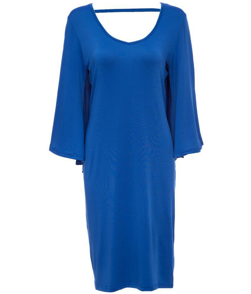 Whitleys Polyester Black Sheath Dress