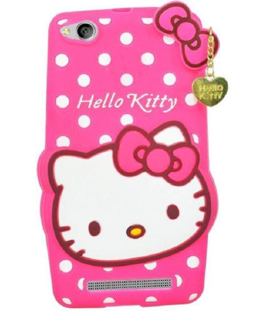 new product 40679 fd8f5 Xiaomi Redmi 5a Plain Cases Doyen Creations - Pink 3D Hello Kitty