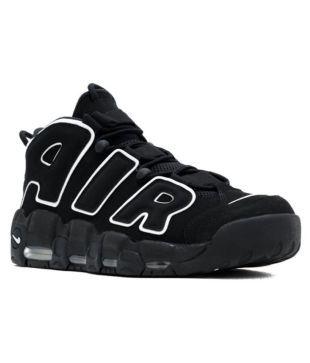 Nike AIR MORE UPTEMPO Black Basketball Shoes - Buy Nike AIR MORE ...