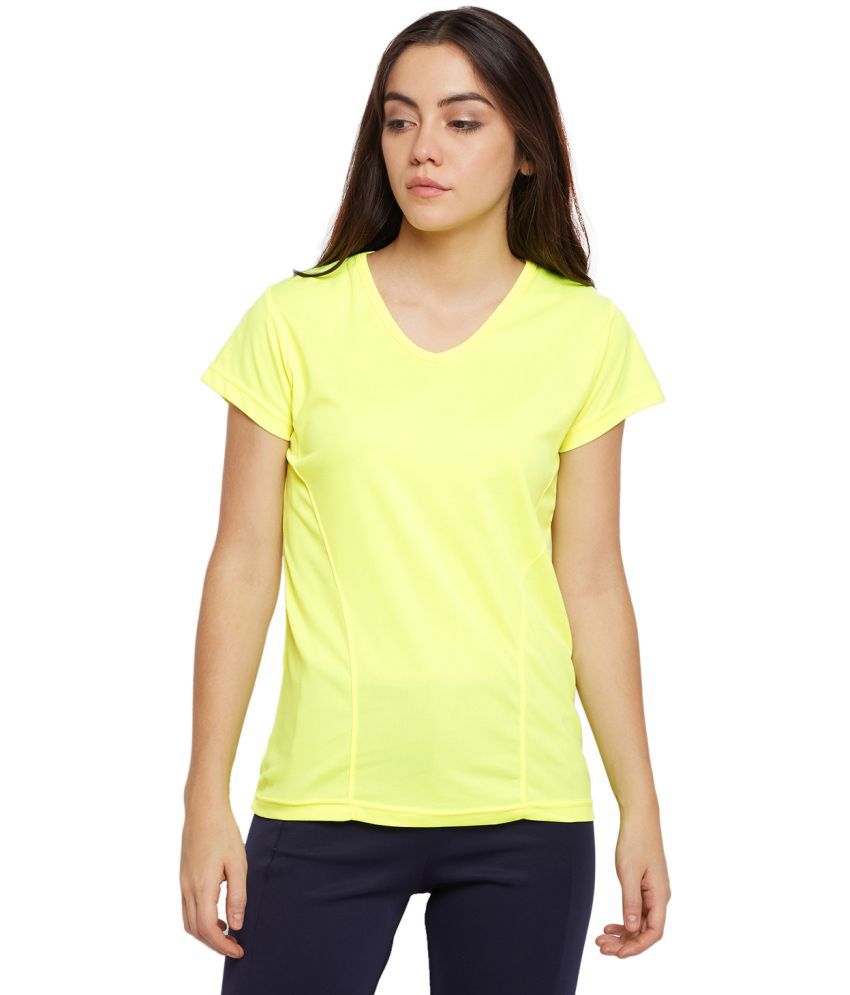 T10 Sports Polyester T Shirts - Yellow