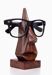Desi Karigar Brown Wooden Eyeglass Holder