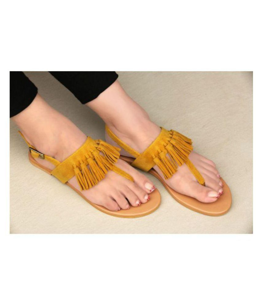 69082cc15 PKKART Yellow Flats Price in India- Buy PKKART Yellow Flats Online at  Snapdeal