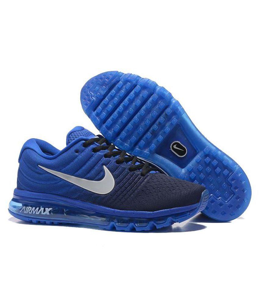 b1a0e9f2f1 Nike Air Max 2017 Blue Running Shoes - Buy Nike Air Max 2017 Blue ...