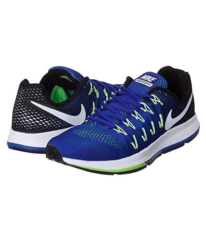 sneakers for cheap 1b171 4ec0b Nike Air zoom 33 pegasus Blue Running Shoes ...
