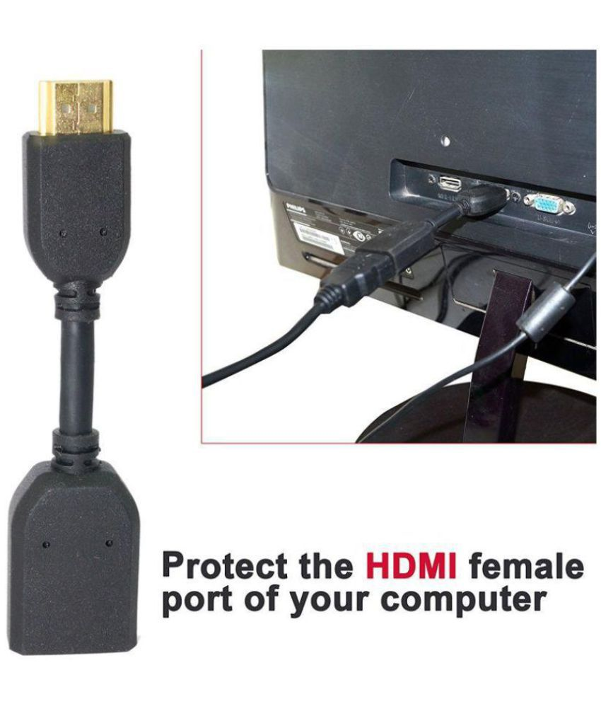 Storite High speed hdmi extension male to female cable for chromecast - 10  cm black
