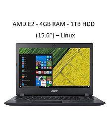 "Acer A315-21-2109 NX.GNVSI.005 AMD E2-9000 7th Generation / 4GB / 1TB / Integrated AMD Radeon R2 Graphics / 15.6"" LED Display/ No DVD / Linux /Black"
