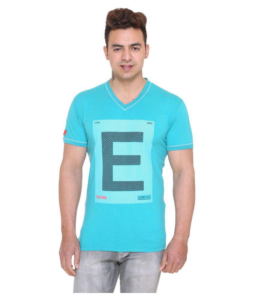 Aye Tees Turquoise Half Sleeve T-Shirt
